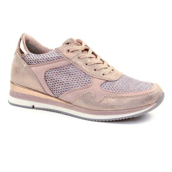 Tennis Et Baskets Mode Marco Tozzi 23701 Rose, vue principale de la chaussure femme