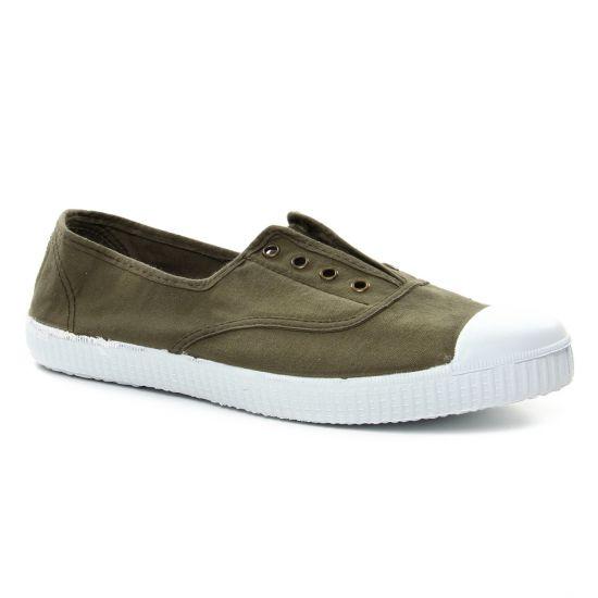 Tennis Et Baskets Mode Victoria 106623 Vert Militaire, vue principale de la chaussure femme