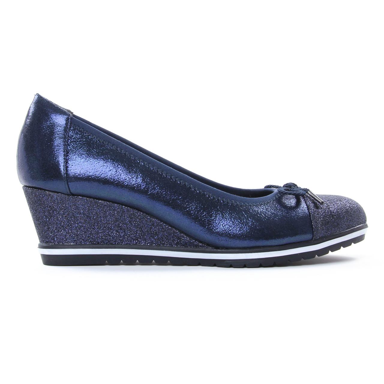 Tamaris 22461 Navy | ballerine compensées bleu marine