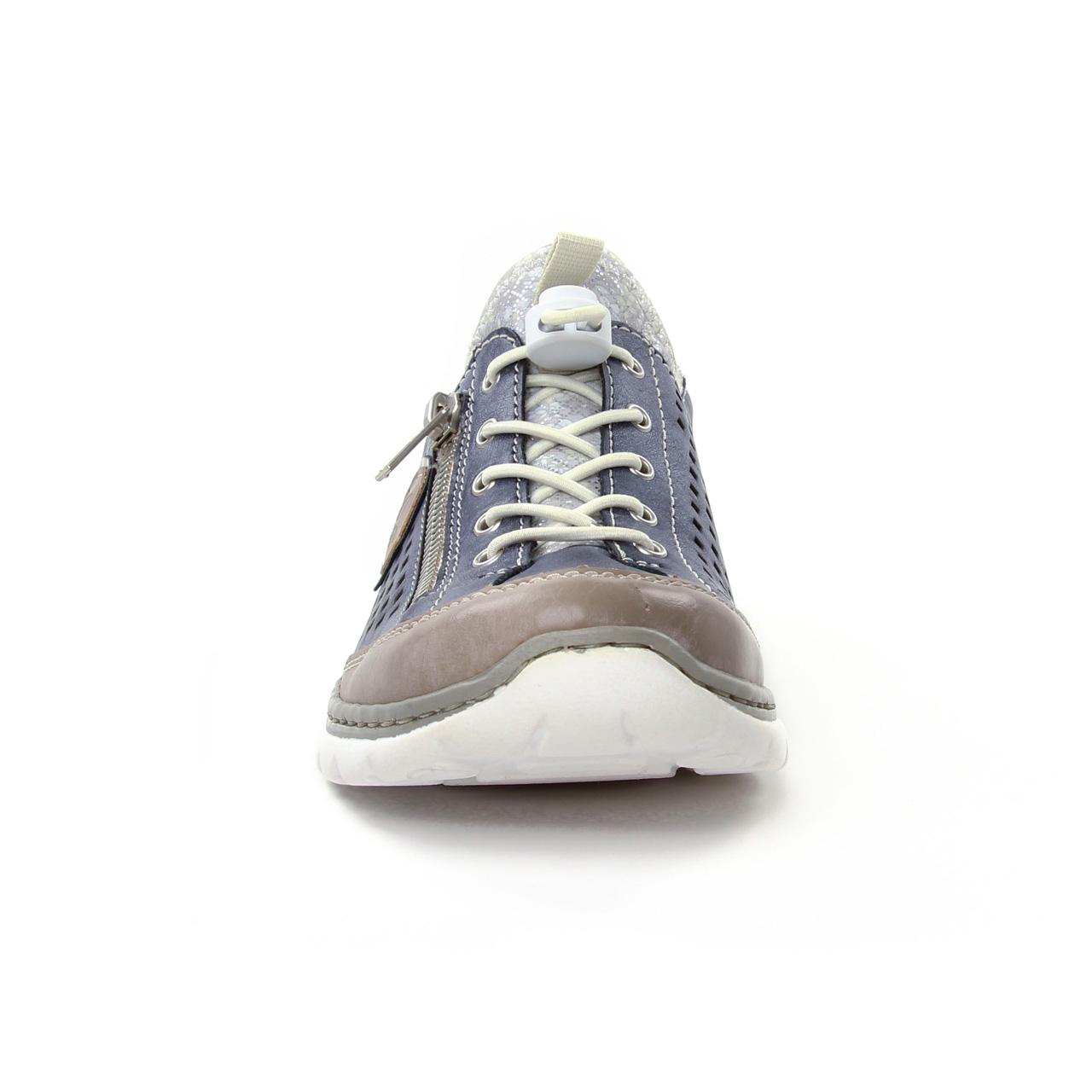 Rieker L3296 42 Stell Jeans   basket mode bleu gris