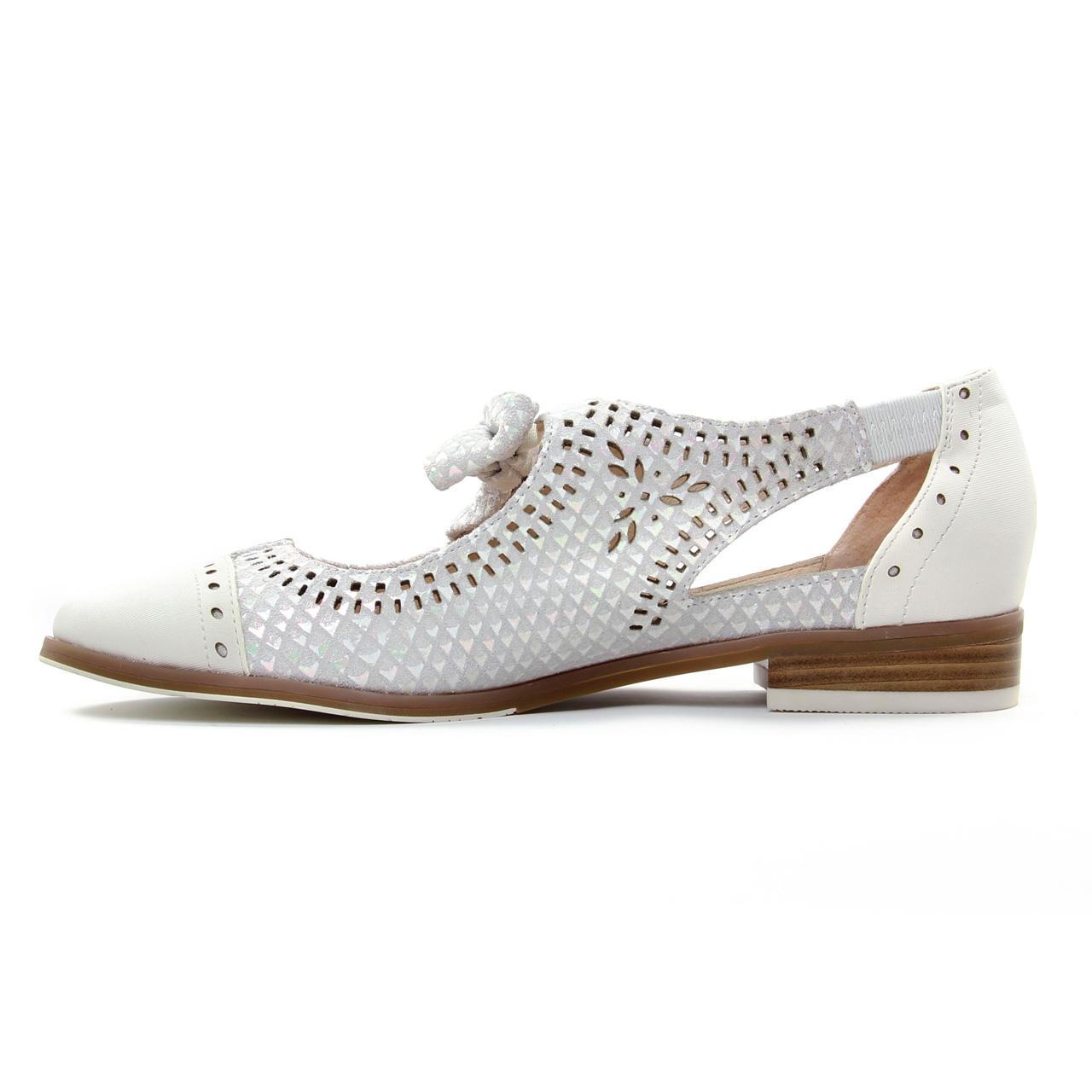 e5b308d7561 derbys blanc argent mode femme printemps été 2019 vue 3