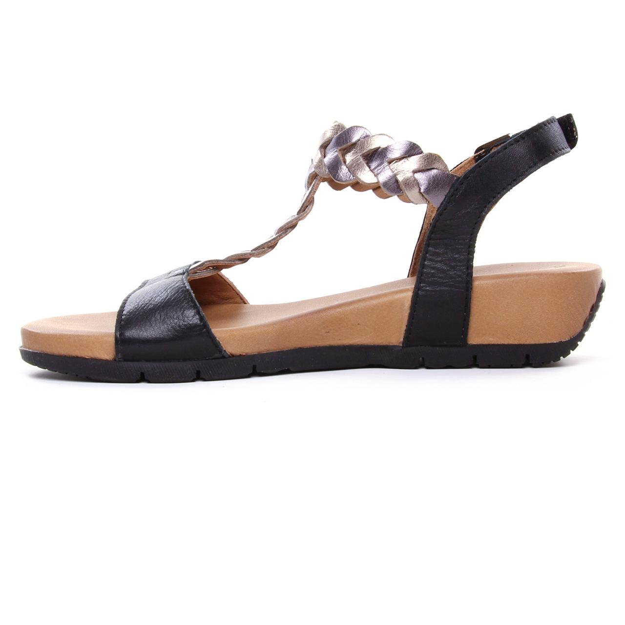 Tamaris 28231 Black | sandale compensées noir printemps été