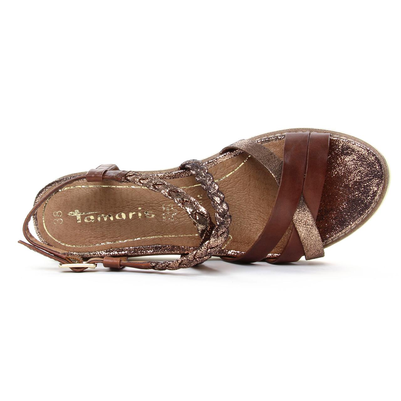 Tamaris 28207 Nut | sandales marron doré printemps été 2019