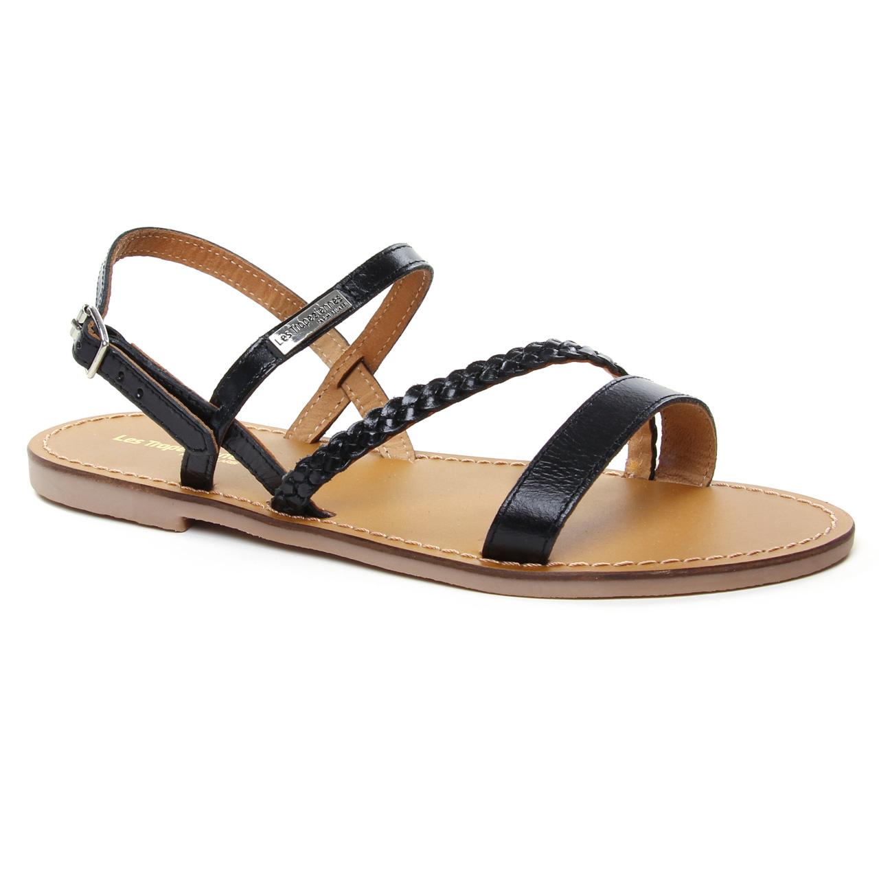 Les Tropeziennes Batresse Noir | sandales noir printemps été