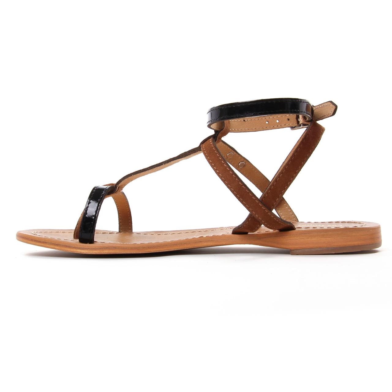 Les Tropeziennes Baie Noir   sandales noir marron printemps
