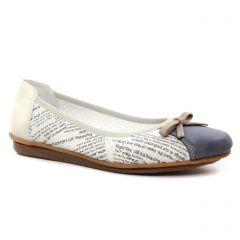 ballerines beige bleu: même style de chaussures en ligne pour femmes que les Rieker