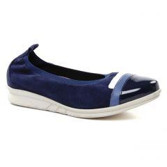 Chaussures femme été 2019 - ballerines compensées Hirica bleu marine