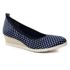 7276279c135114 Chaussures femme été 2019 - ballerines compensées tamaris bleu marine