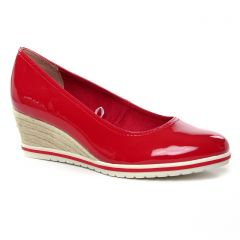 ballerines-talons-compenses rouge: même style de chaussures en ligne pour femmes que les Tamaris