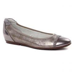 ballerines-confort marron doré: même style de chaussures en ligne pour femmes que les Tamaris