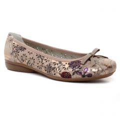ballerines rose multi: même style de chaussures en ligne pour femmes que les Rieker