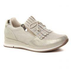 Chaussures femme été 2019 - baskets mode marco tozzi beige taupe