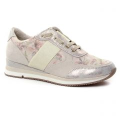 Chaussures femme été 2019 - baskets mode marco tozzi beige rose