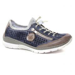 Chaussures femme été 2019 - baskets mode rieker bleu gris