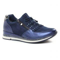 Chaussures femme été 2019 - baskets mode marco tozzi bleu marine