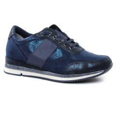 Chaussures femme été 2019 - baskets mode marco tozzi bleu metal