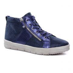 baskets-mode bleu métal: même style de chaussures en ligne pour femmes que les Marco Tozzi