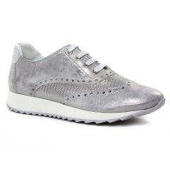 Chaussures femme été 2019 - baskets mode Geo Reino gris argent