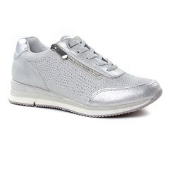 Chaussures femme été 2019 - baskets mode marco tozzi gris argent