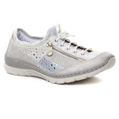 Chaussures femme été 2019 - baskets mode rieker gris