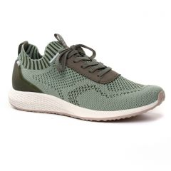 Chaussures femme été 2019 - baskets mode tamaris vert