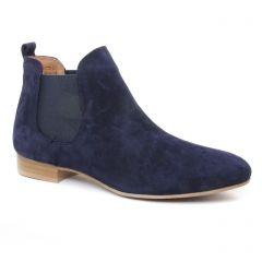 Chaussures femme été 2019 - boots élastiquées Scarlatine bleu marine