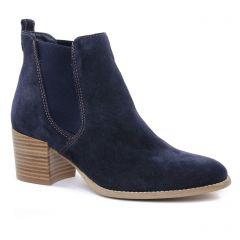 Chaussures femme été 2019 - boots élastiquées tamaris bleu marine