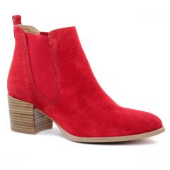 Chaussures femme été 2019 - boots élastiquées tamaris rouge