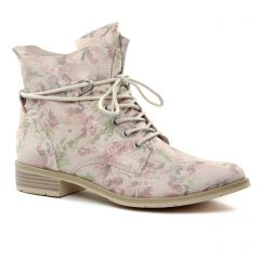 bottines-a-lacets beige multi: même style de chaussures en ligne pour femmes que les Tamaris