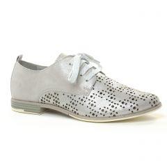 derbys beige argent: même style de chaussures en ligne pour femmes que les Marco Tozzi