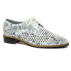 derbys blanc argent: même style de chaussures en ligne pour femmes que les Mamzelle