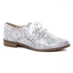 Chaussures femme été 2019 - derbys tamaris blanc argent