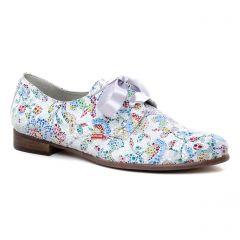 Chaussures femme été 2019 - derbys Dorking blanc multi