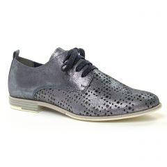 Chaussures femme été 2019 - derbys marco tozzi bleu marine