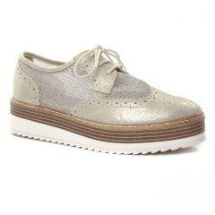 derbys-talons-compenses beige doré: même style de chaussures en ligne pour femmes que les Tamaris