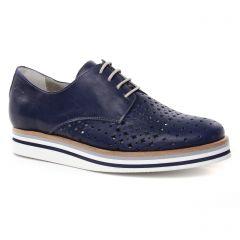 derbys-talons-compenses bleu marine: même style de chaussures en ligne pour femmes que les Tamaris
