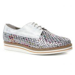 derbys-talons-compenses gris multi: même style de chaussures en ligne pour femmes que les Dorking