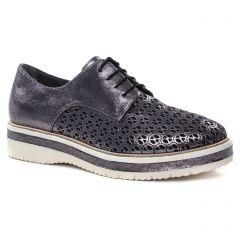 derbys-talons-compenses mauve metal: même style de chaussures en ligne pour femmes que les Tamaris