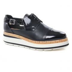 derbys-talons-compenses noir: même style de chaussures en ligne pour femmes que les Rieker