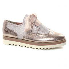 Chaussures femme été 2019 - derbys compensées marco tozzi rose metal