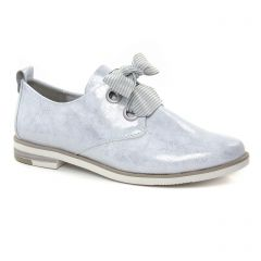 Chaussures femme été 2019 - derbys marco tozzi gris argent