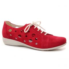 Chaussures femme été 2019 - derbys Hirica rouge