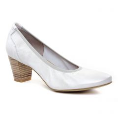 Chaussures femme été 2019 - escarpins Perlato blanc