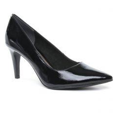 Chaussures femme été 2019 - escarpins tamaris noir vernis