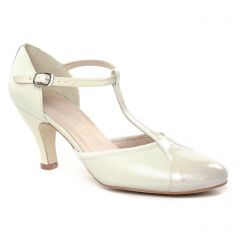escarpins-salome blanc cassé: même style de chaussures en ligne pour femmes que les Marco Tozzi