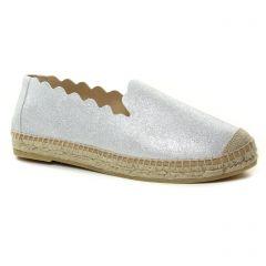 espadrilles argent: même style de chaussures en ligne pour femmes que les Kanna