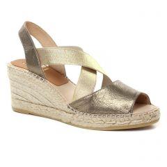 espadrilles-compensees bronze: même style de chaussures en ligne pour femmes que les Kanna