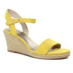espadrilles-compensees jaune: même style de chaussures en ligne pour femmes que les Tamaris