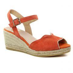 Chaussures femme été 2019 - espadrilles compensées Kanna orange