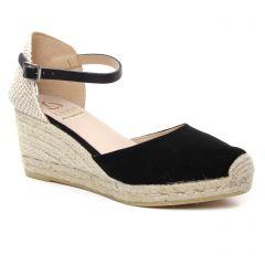 Chaussures femme été 2019 - espadrilles compensées Kanna noir
